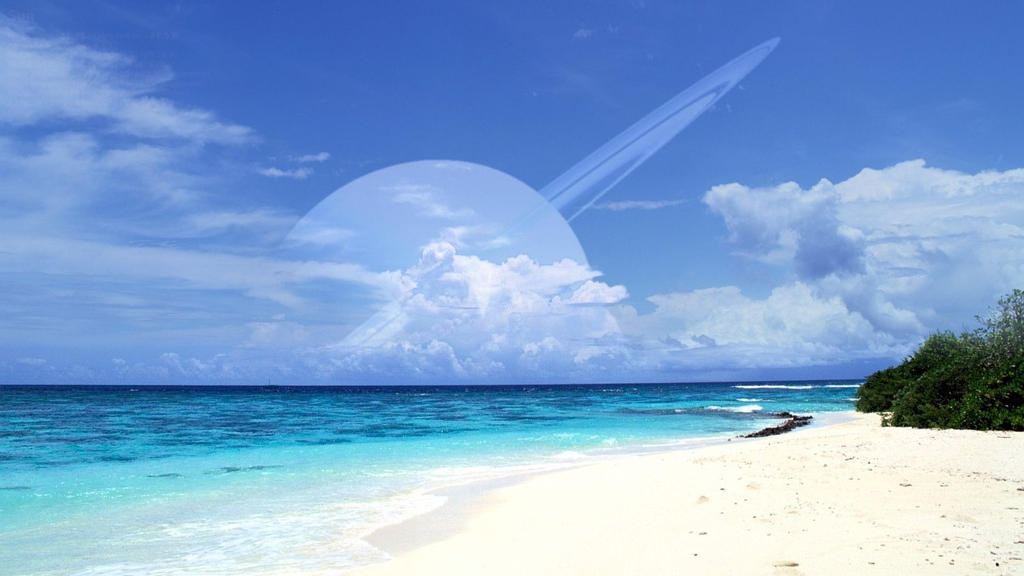 White Sands, Blue Water by celdaran