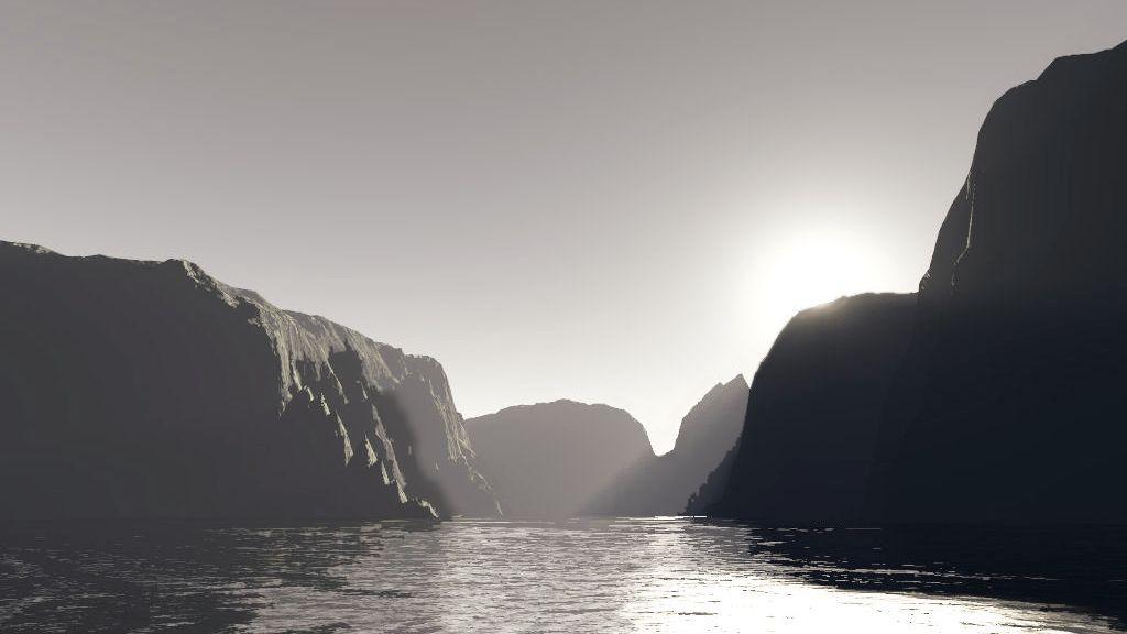 Sun Over The Ridge by celdaran