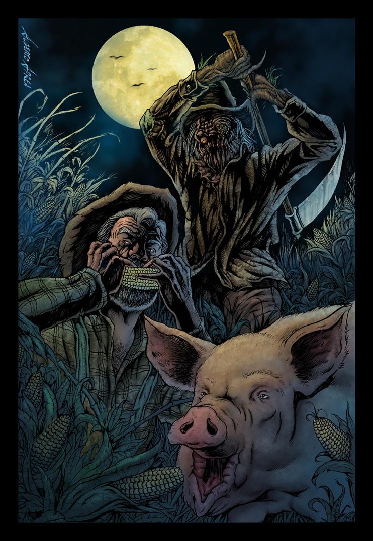 scarecrow and farmer by albertoaprea on DeviantArt