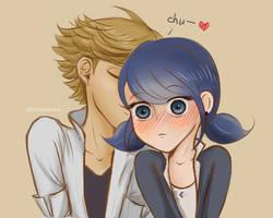 KISS (Adrinette) by Asobou4Ulquiorra