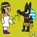 Isis and Anubis