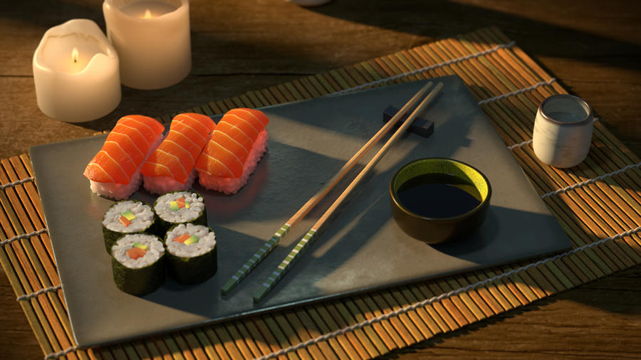 Sushi Plate By Kev On Deviantart