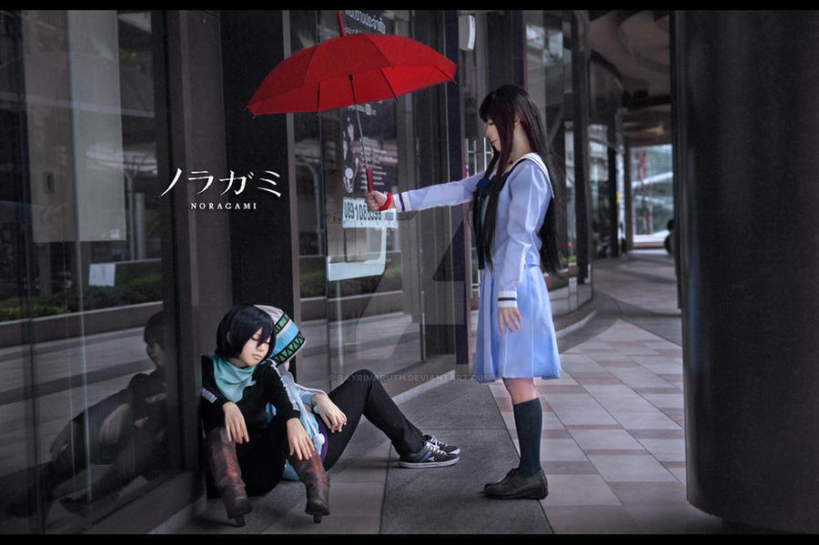 [Noragami] Red Umbrella by rayrinaruth