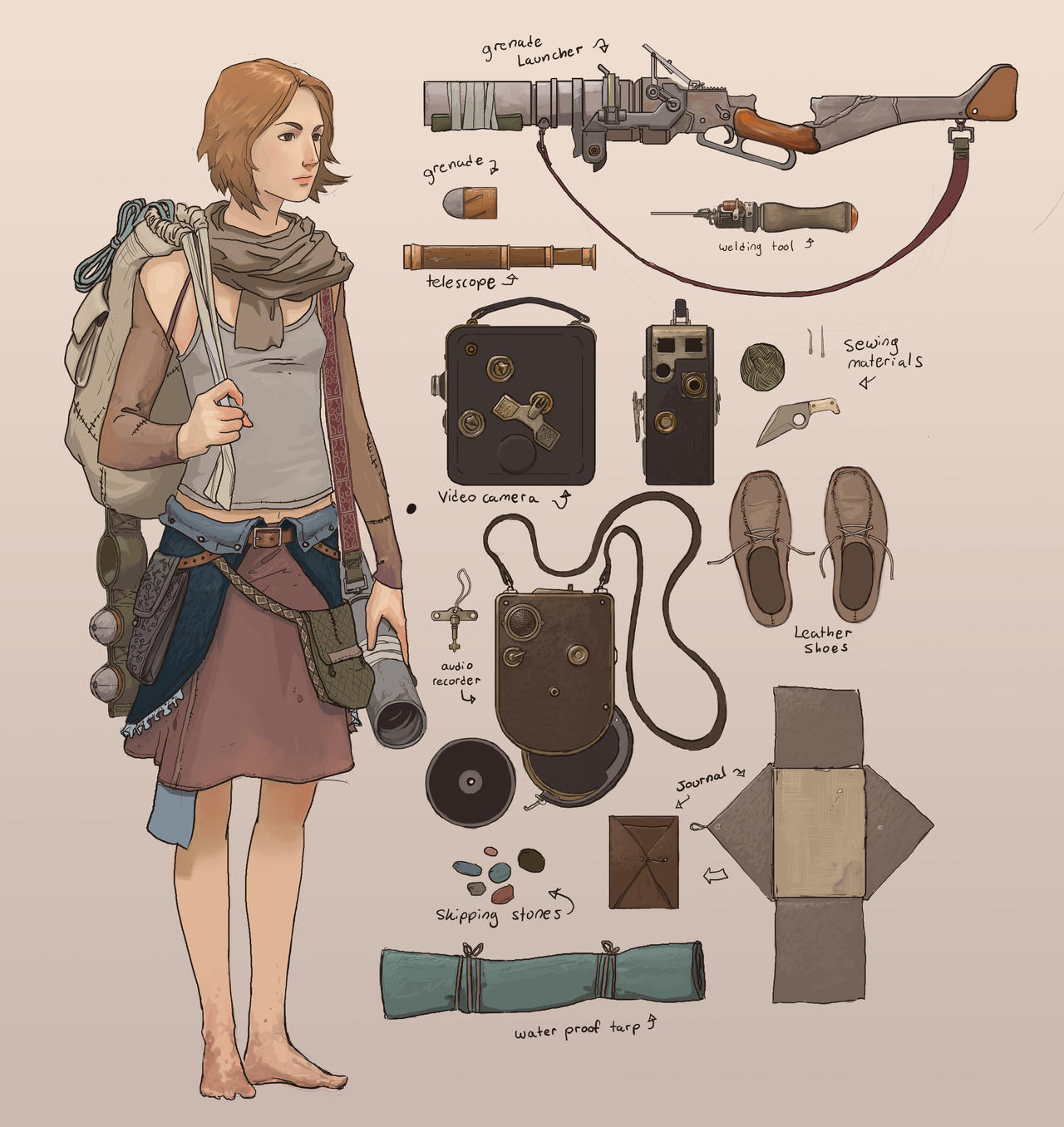 Sybil + trinkets by TheMichaelMacRae