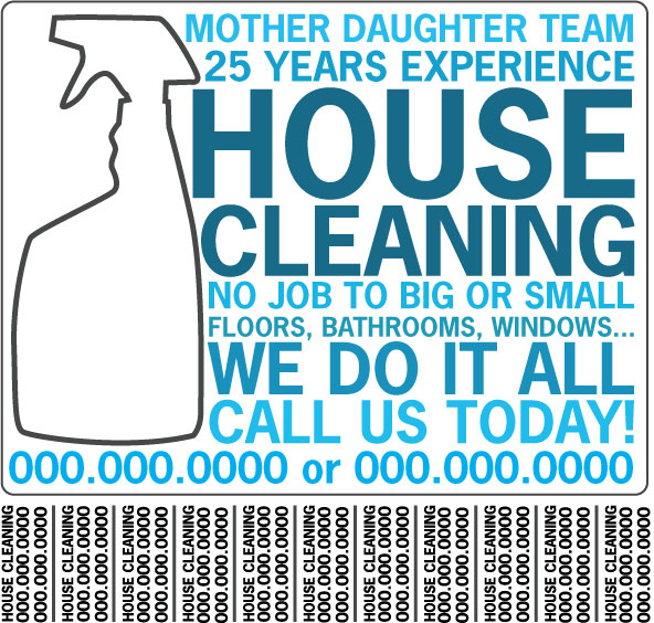 Housecleaning Flyer By Yayforpopcorn On Deviantart
