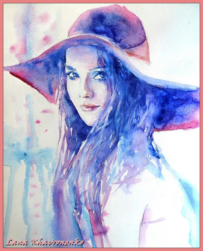 Рисунки девушек красками 11 фотография