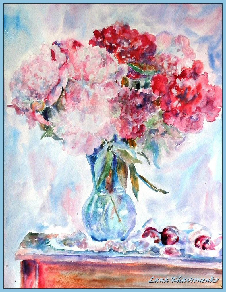 Peonies by LORETANA