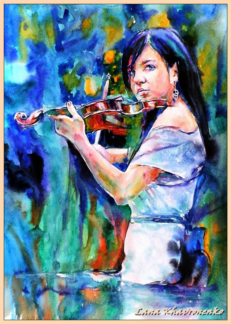 Violinist by LORETANA