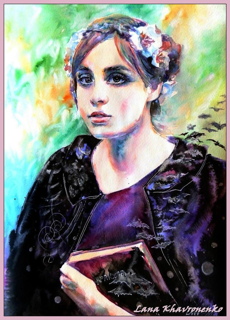 She reads Gothic novels by LORETANA