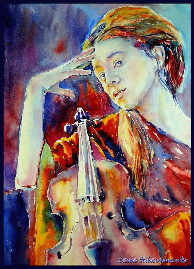 In the company violin by LORETANA