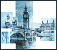 London on my wall, mosaic by LORETANA