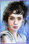 Brunette. watercolor