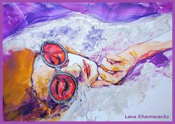 Girl in glasses by LORETANA