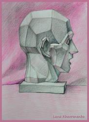 Gypsum head by LORETANA