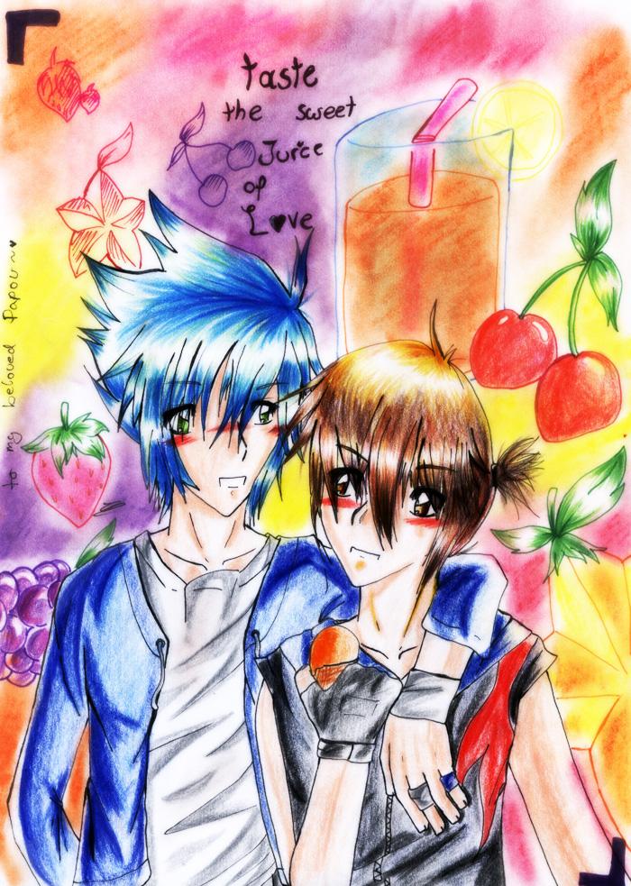 taste the sweet juice of love by Hopeless-Johan