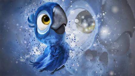 Baby Blu Wallpaper by RadillacVIII