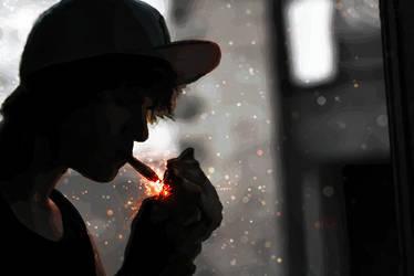 Smoke Cap Guy by RadillacVIII