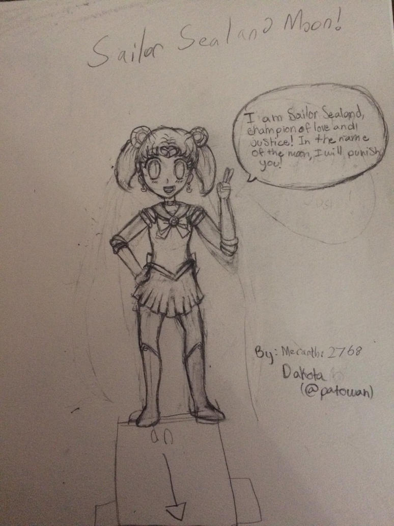 (Collab With Meranthi2768) Sealand as Sailor Moon by Patowan