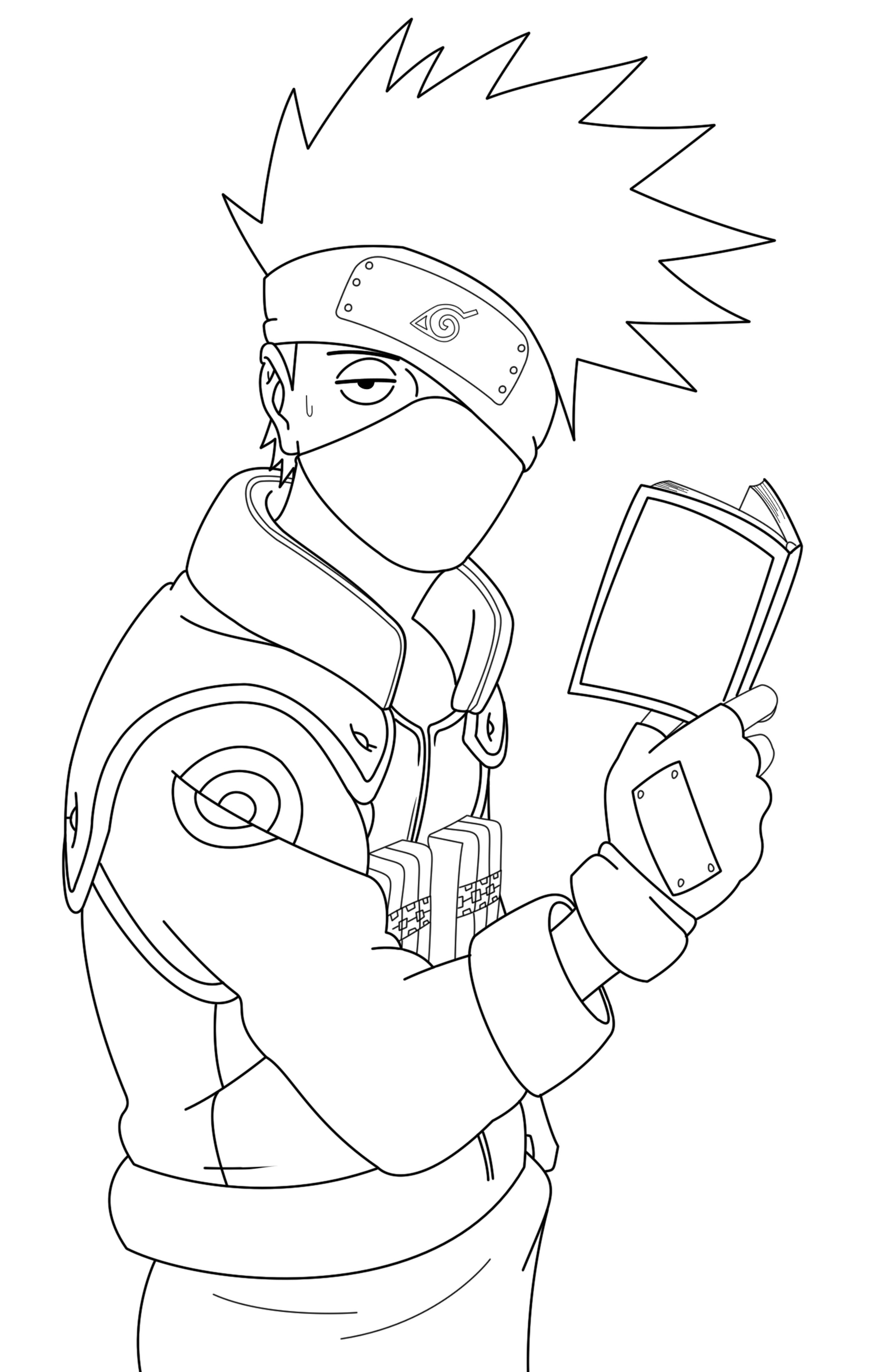 Naruto Lineart : Kakashi lineart naruto by crazylz on deviantart