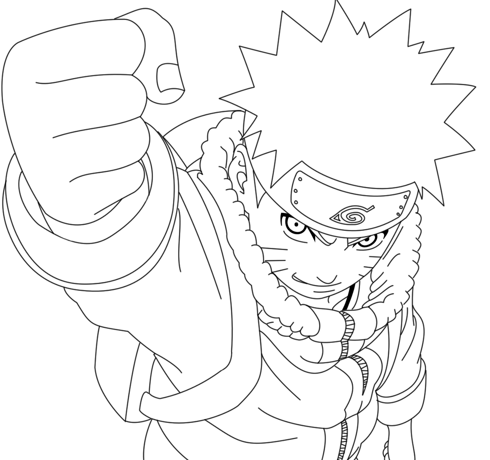 Lineart Naruto : Naruto kid lineart by crazylz on deviantart