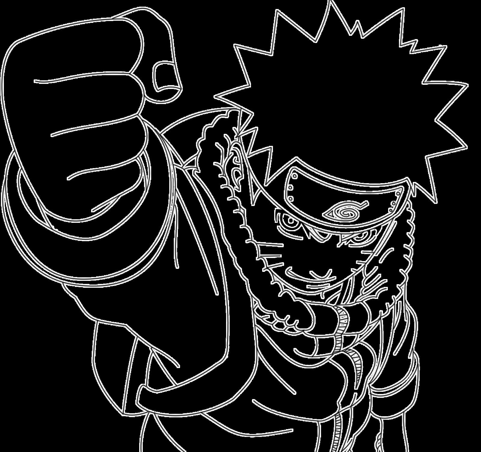 Lineart Naruto : Naruto kid lineart by crazylz on deviantart