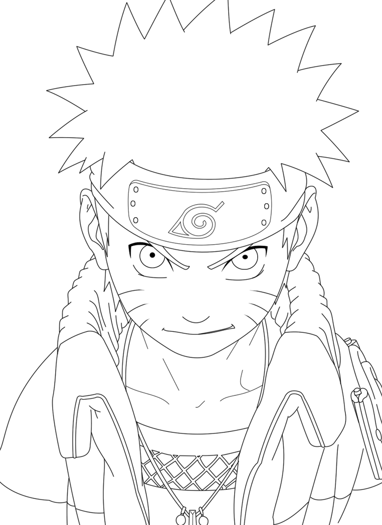 Lineart Naruto : Naruto lineart by crazylz on deviantart