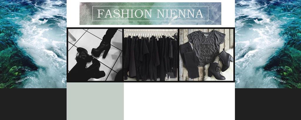 layout for fashion blog by JulieKrocova