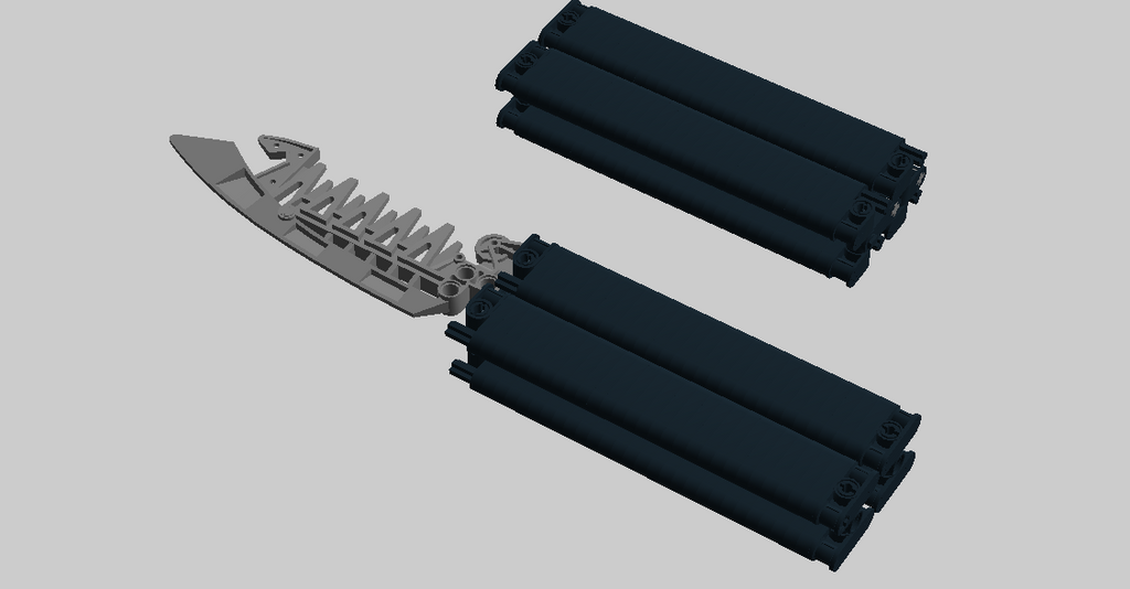 how to make a lego butterfly knife instructions