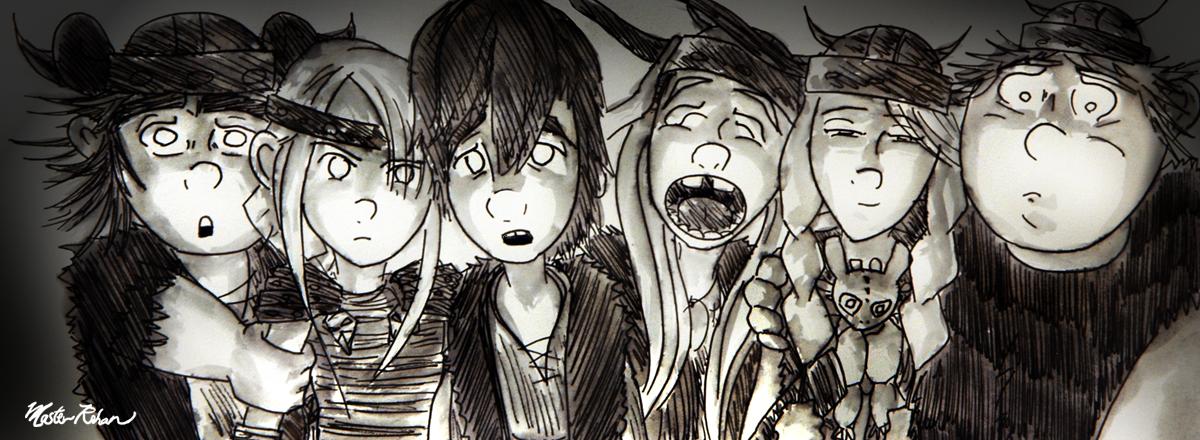 Viking Teens and the Tornaydee by masterrohan