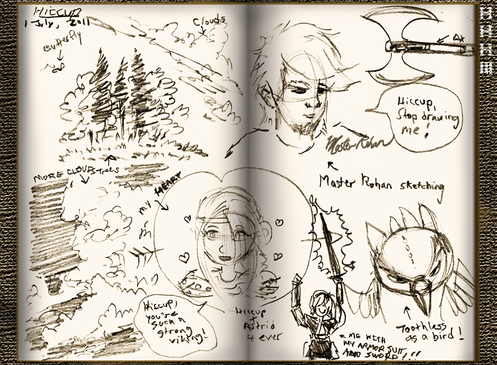 Hiccup's Sketchbook 2 by masterrohan