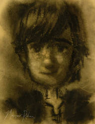 Hiccup Portrait in Charcoal by masterrohan