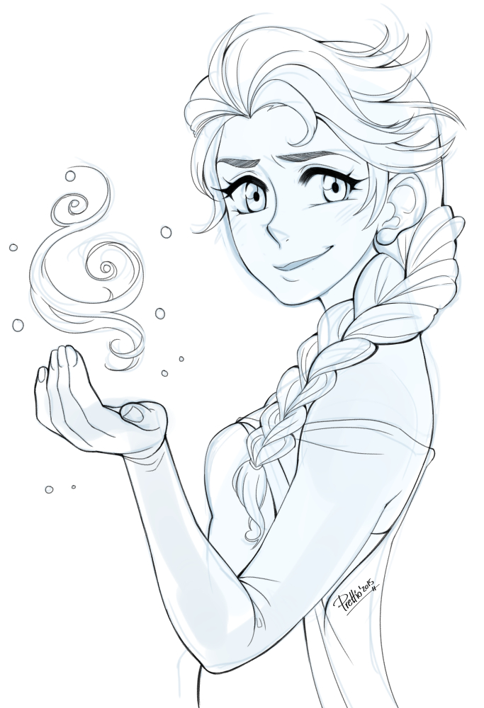 Elsa - Sketch By Prettio On DeviantArt
