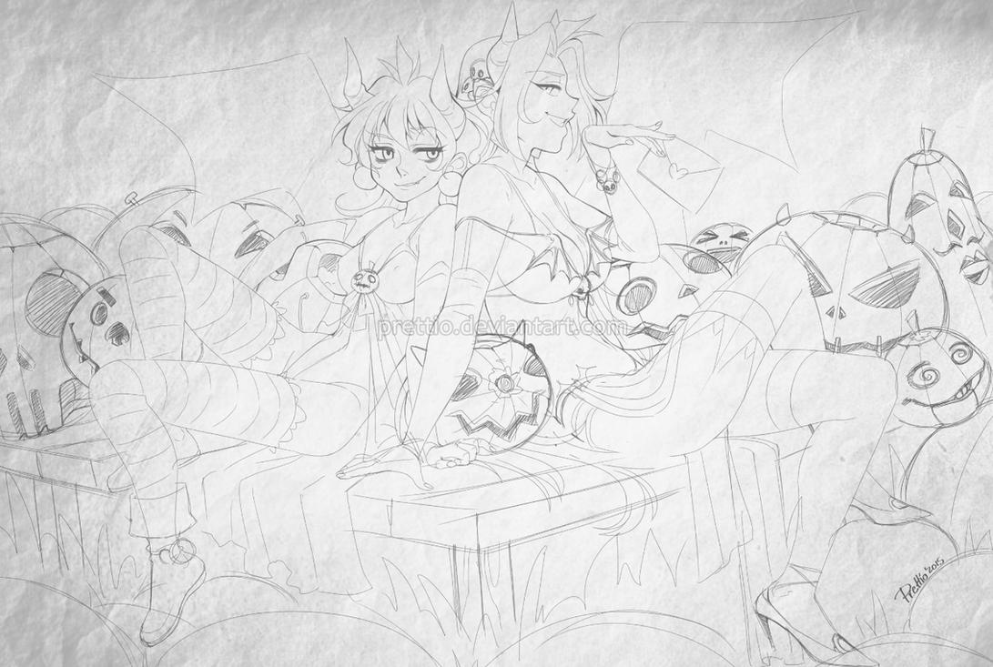Halloween 2015 - sketch by Prettio