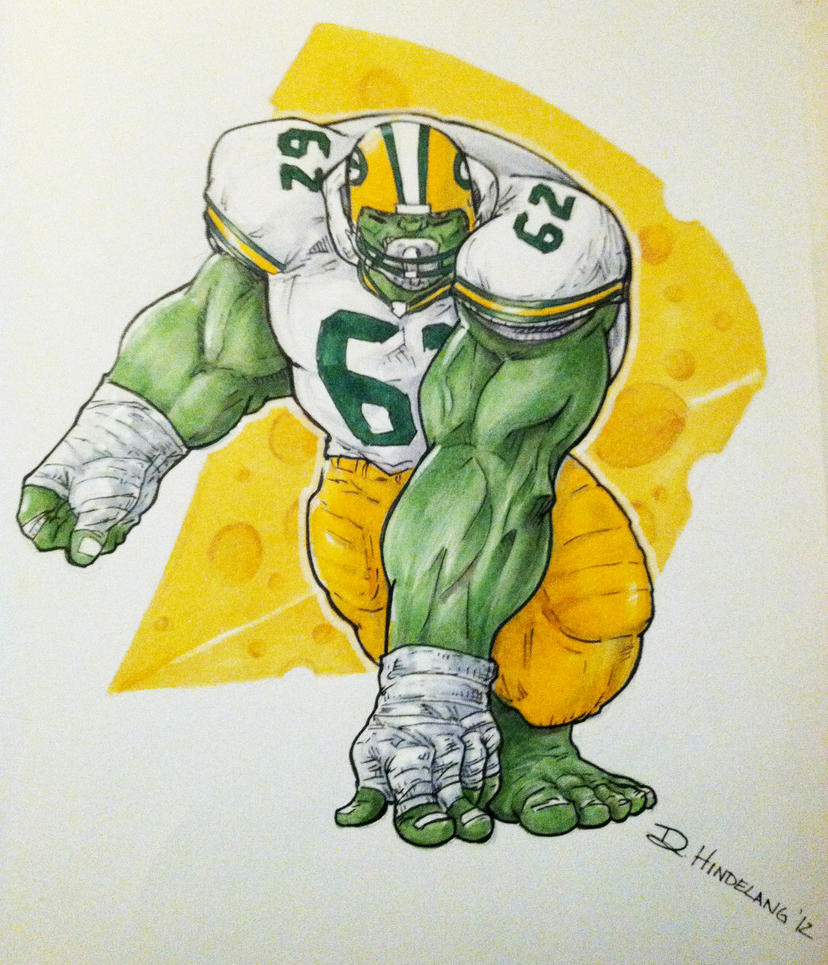 Green Bay Packers Hulk by DKHindelang on DeviantArt