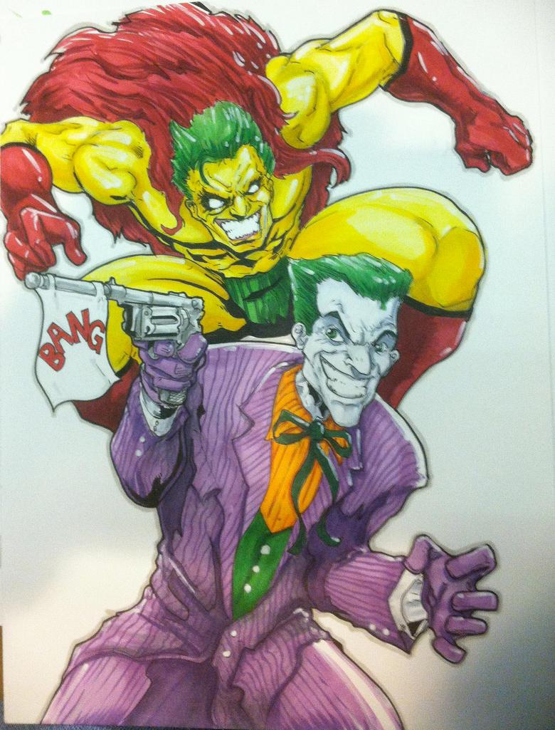 The Joker vs. The Creep by DKHindelang