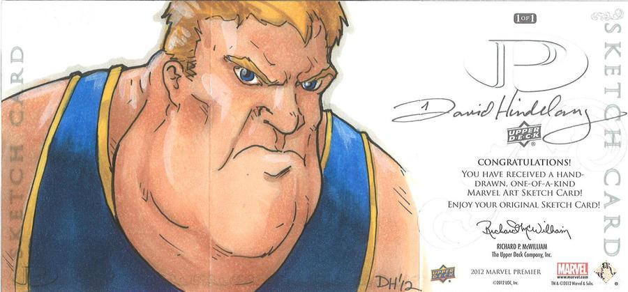 Marvel Premier Card - The Blob (back) by DKHindelang