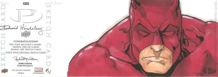 Marvel Premier Card - Daredevil (back) by DKHindelang