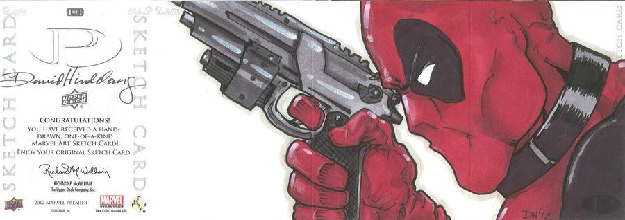 Marvel Premier card - Deadpool (back) by DKHindelang