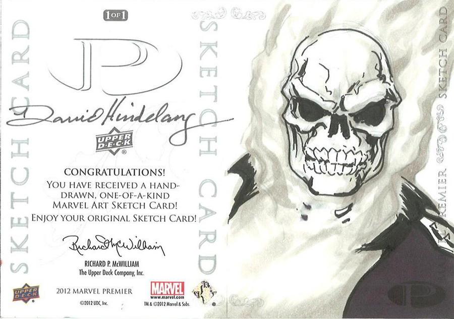 Marvel Premier Card - Ghost Rider (back) by DKHindelang