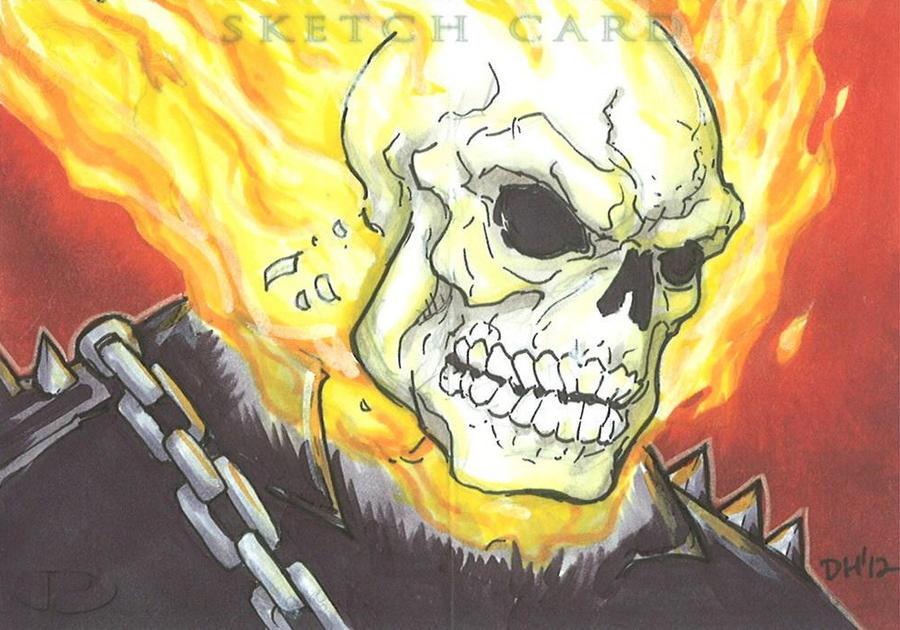 Marvel Premier Card - Ghost Rider (front) by DKHindelang