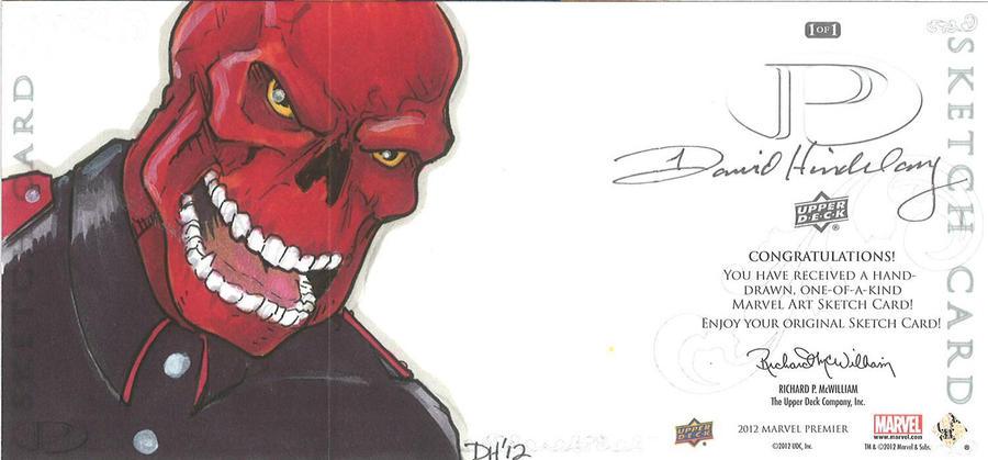 Marvel Premier Card - Red Skull (back) by DKHindelang