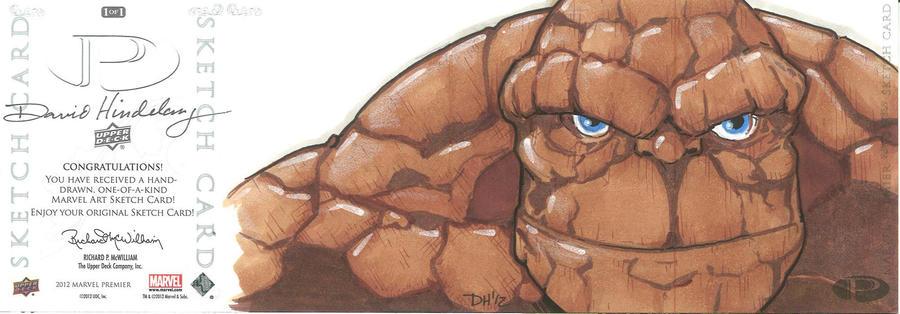 Marvel Premier Card - Thing (back) by DKHindelang
