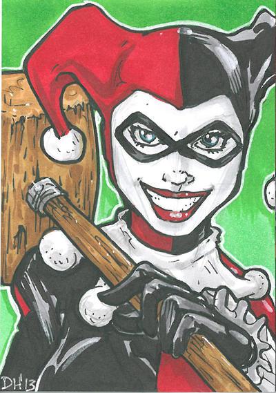 HarleyQuinn Card by DKHindelang