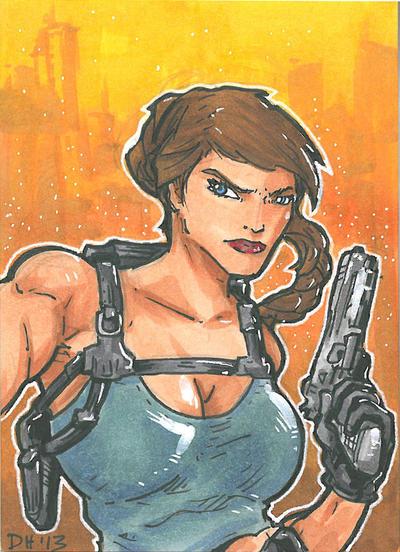 Lara Croft Card by DKHindelang