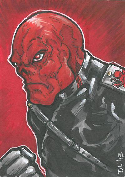 Red Skull Card by DKHindelang