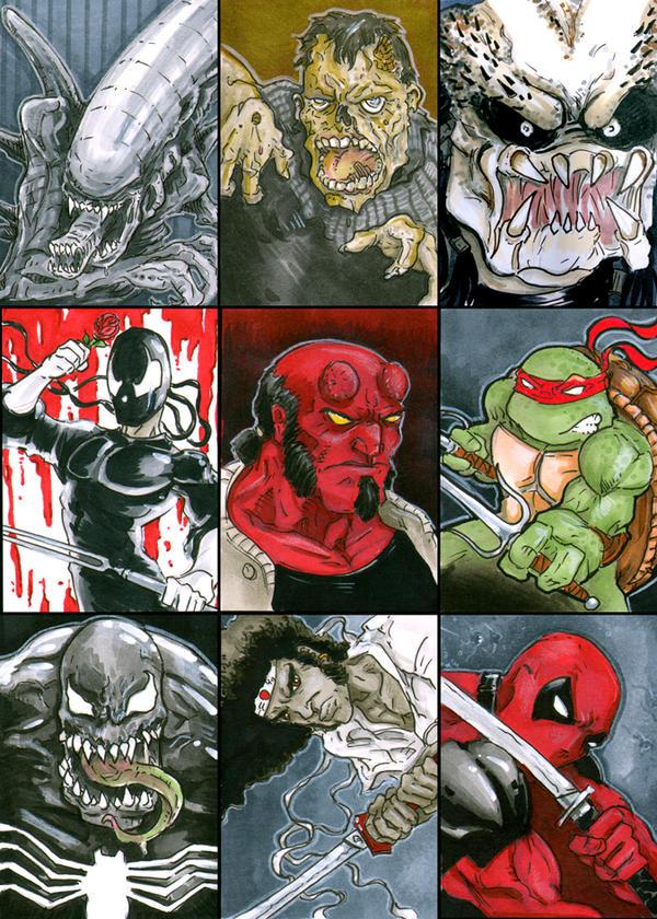 Various Sketch Cards by DKHindelang