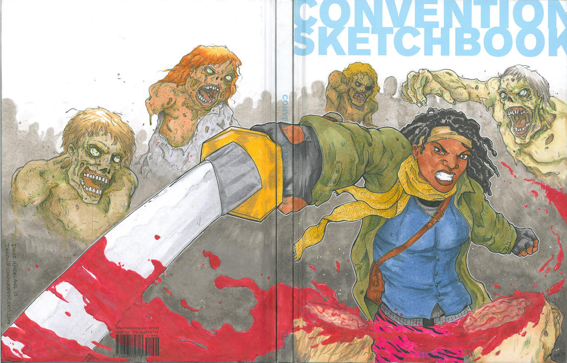Michonne - Sketchbook Full by DKHindelang