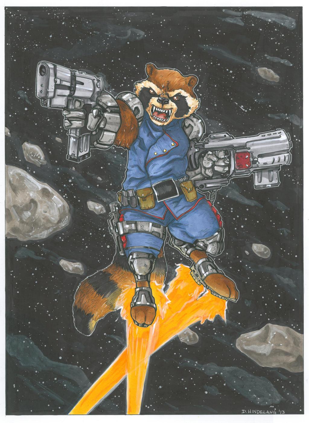 Rocket Raccoon by DKHindelang