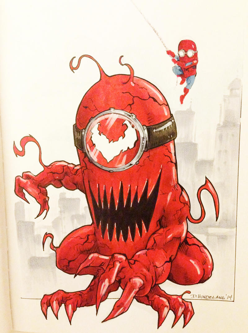 Minion Carnage Baltimore Comicon 2014 - Sketchbook by DKHindelang