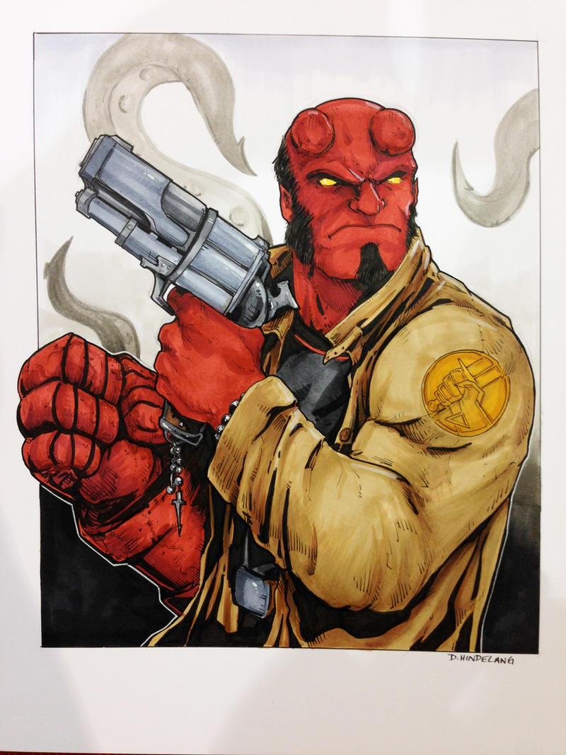 Hellboy Pittsburgh Comicon 2014 by DKHindelang